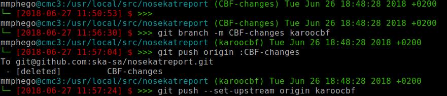 Git branch rename